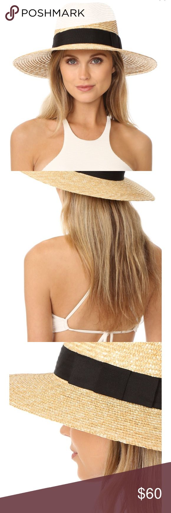 """Brixton Joanna Straw Wide Brim Hat Brand new straw hat from Brixton. Size medium measures 7.25"""", Honey in color.  Has a grosgrain band in black. Brixton style 00249-0454 Brixton Accessories Hats"""