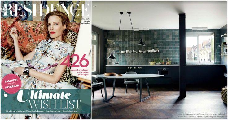 We find amazing #tiles #wall #DomenicoMori on Residence magazine Dec.2016. #Boffi #kitchen. Ph. #KasiaGatkowska – link to #Residence #12 2016 magazine – thanks to @odetteblum