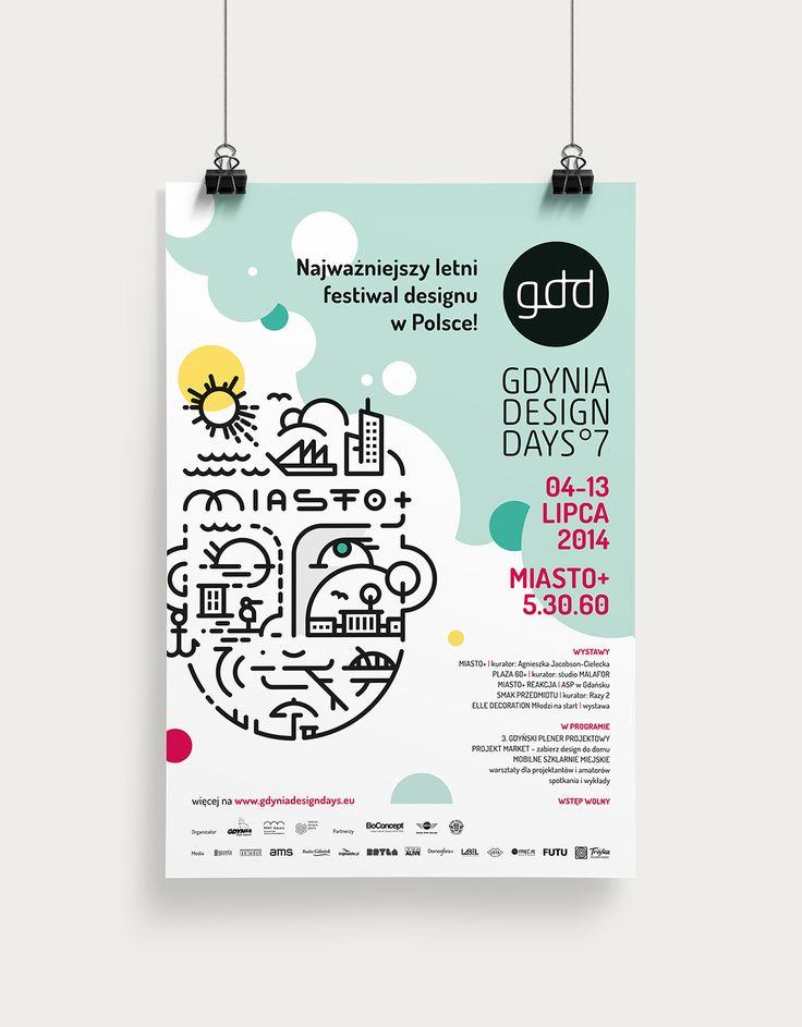Key Visual i identyfikacja wizualna siódmej edycji festiwalu Gdynia Design Days. 2014 rok.