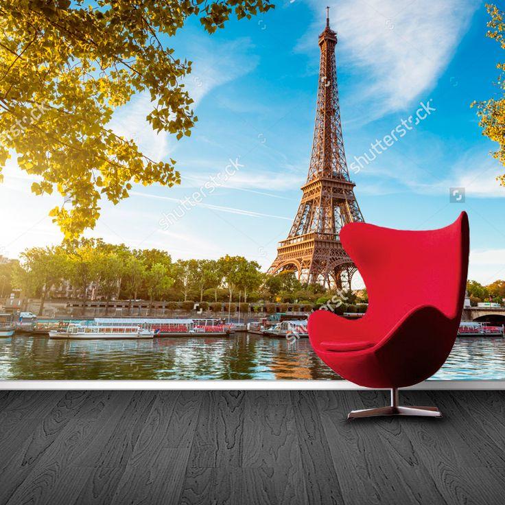 Fotobehang Eiffeltoren in Parijs | Maak het jezelf eenvoudig en bestel fotobehang voorzien van een lijmlaag bij YouPri om zo gemakkelijk jouw woonruimte een nieuwe stijl te geven. Voor het behangen heb je alleen water nodig!   #behang #fotobehang #print #opdruk #afbeelding #diy #behangen #parijs #frankrijk #eiffeltoren