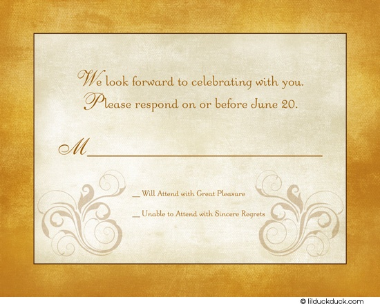 60 best vintage modern 50th anniversaries images on pinterest 50th a custom swirl motif continues from our wedding anniversary invitation accenting your sincere wording stopboris Choice Image