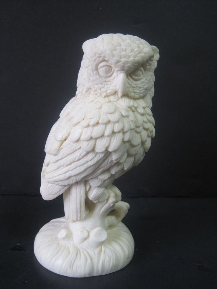 Vintage White Owl 1960s Sculptor A Santini Made In Italy 5
