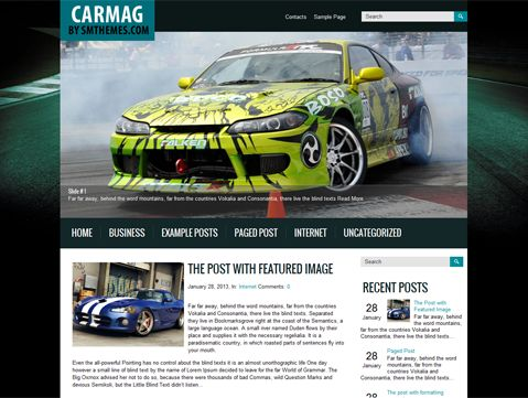 Carmag is excellent solution for site about cars. This WordPress theme supports and comes with custom widgets, drop-down menus, javascript slideshow and lots of other useful features.