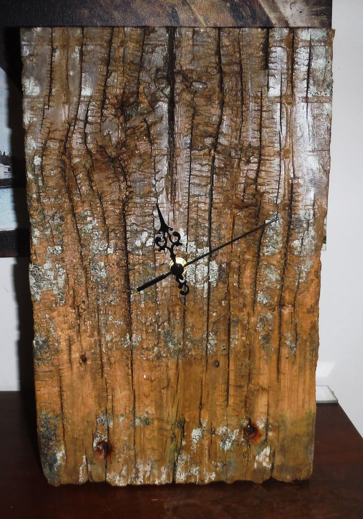 50 yr old recycled wood made into a Tide Clock. Noon means High tide & 6 means Low tide.