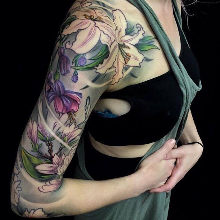 ▷ 1001 Flower Tattoo Ideen und Informationen zu deren Bedeutung   – tattoos