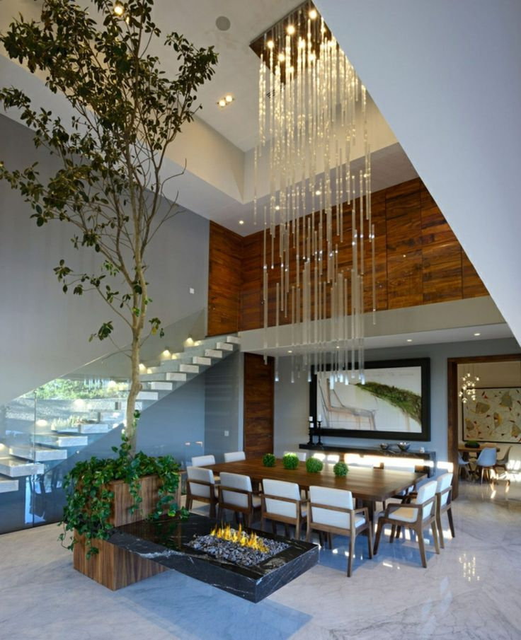 Haus Innendesign Modernes Haus Mexico Innendesign Esszimmer This Light ...