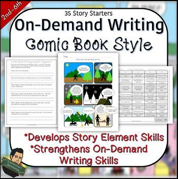 On Demamd Writing using Story Elements NO PREP | TpT