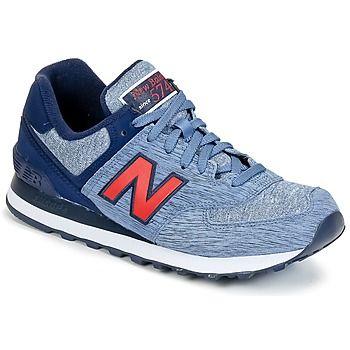 #Sneaker ML574 Blau / Rot von New Balance: Die Farbe blau/grau und der Schaft aus Leder und Textil beweisen Stil. #NewBalance, #SneakerNewBalance, #NewBalanceSchuhe