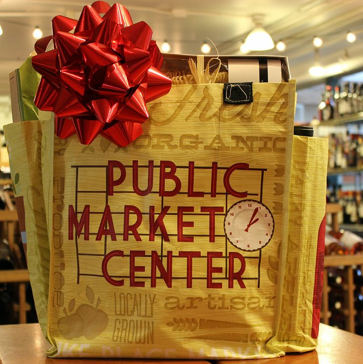 Market Tote bag with specialty foods Specialty