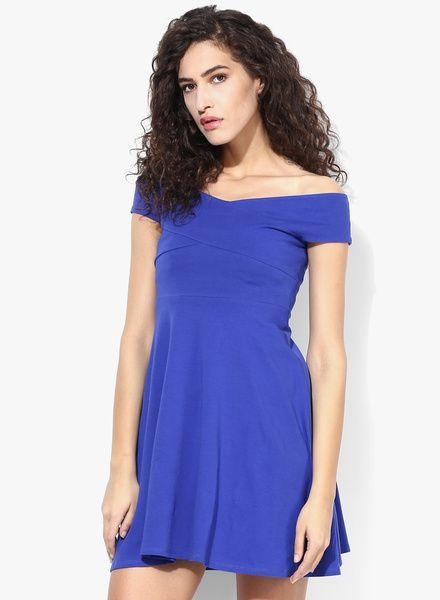 Blue Bardot Dress