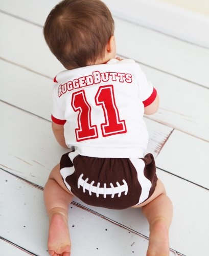 RuggedButts Baby Boys Sports Themed Football Diaper Cover