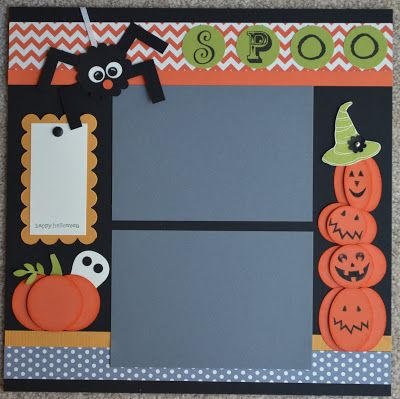 Paper, Pansies and Pachyderms: More October 2012 Scrapbook Pages
