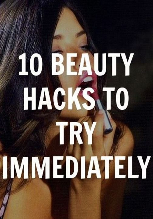 10 beauty hacks will help you next time you're in a jam with makeup, skin, hair, or any other beauty problem.