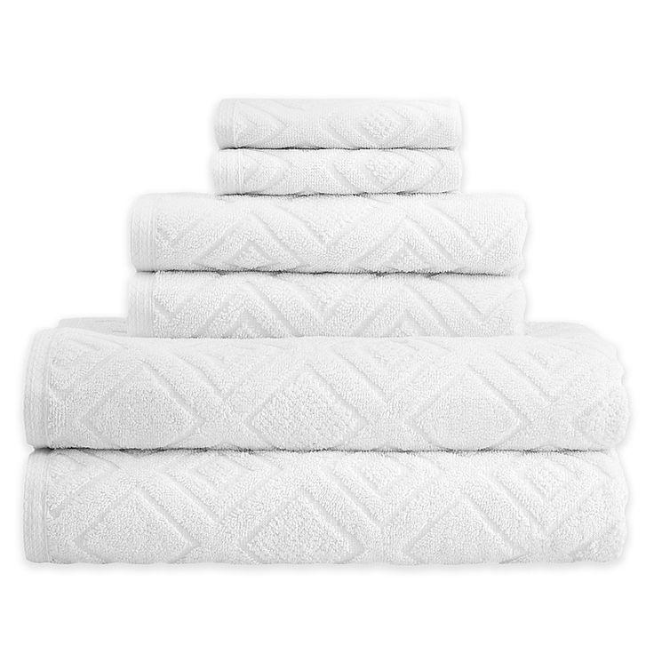 Gemstone Jacquard 6 Piece Towel Set In In 2019 Bath Towels Bath