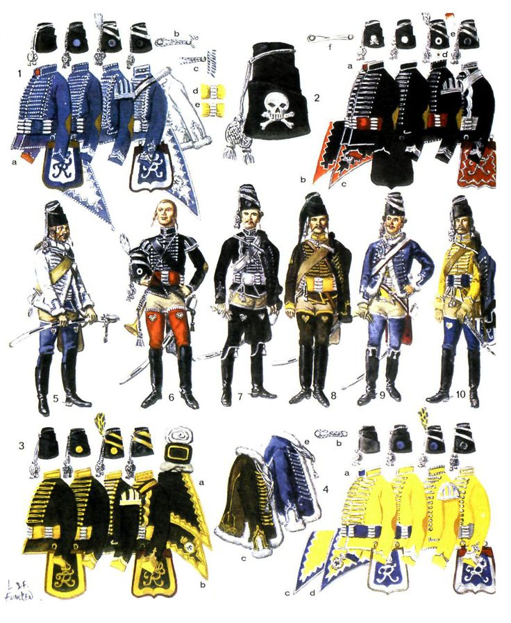 Prussian hussars in the army of Frederick the Great