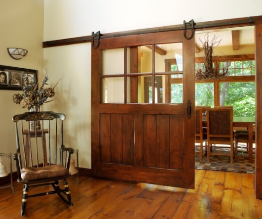 20 Home Offices With Sliding Barn Doors: Interior Barn Sliding Door For Office In Lieu Of French