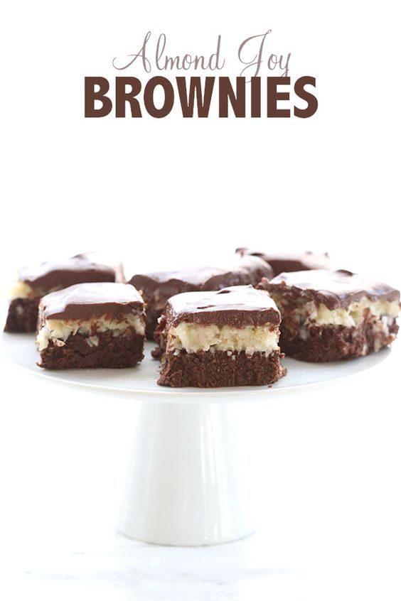 Creamy coconut filling, whole almonds and rich chocolate ganache, all atop low carb, grain-free brownies. Almond Joy gets a healthy makeover! Oh yeah, I went there. I not only went there, I went ve…
