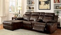 Hardy Transitional Style Brown Sectional W/ Console