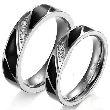 Men Black Weding Ring