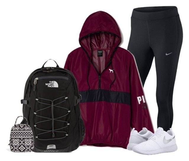 """""""Got my braces off today!! """" by je-ss-ic-as on Polyvore featuring NIKE, Victoria's Secret PINK, The North Face and Vera Bradley"""