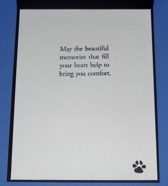 Dog Cat Pet Sympathy Card, Sending Love and Sympathy Greeting Card, Loss of a Dog Cat Pet, Dog Cat Pet Condolence, Handmade, Hand stamped Express your heart with this pet sympathy card. The front is texture embossed with paw prints and has Sending Love and Sympathy stamped and mounted