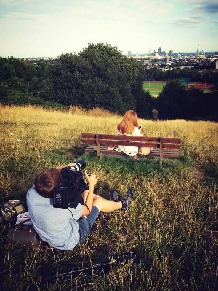 Hamsptead Heath in the evening sunlight - what an amazing view across London!