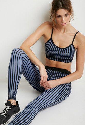 Striped Print Athletic Leggings | Forever 21 - 2000172460