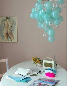 Bubble chandelier. Lustre de bolhas: inusitado!