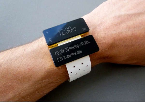 Equals Watch by Product Tank displays information on two screens