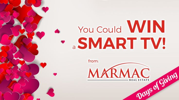 """Love is in the air and so is the spirit of doing something extra special for someone in your life. Enter today for a chance to win a Sony 32"""" HD Smart TV from MarMac Real Estate and make this Valentine's Day a little extra special!!! whnt.secondstreetapp.com/og/fce3dc81-190b-43eb-ac95-890f98618f5c/referrals/4afde4b0-9960-44f6-9a6c-23f5d86b5c6e"""