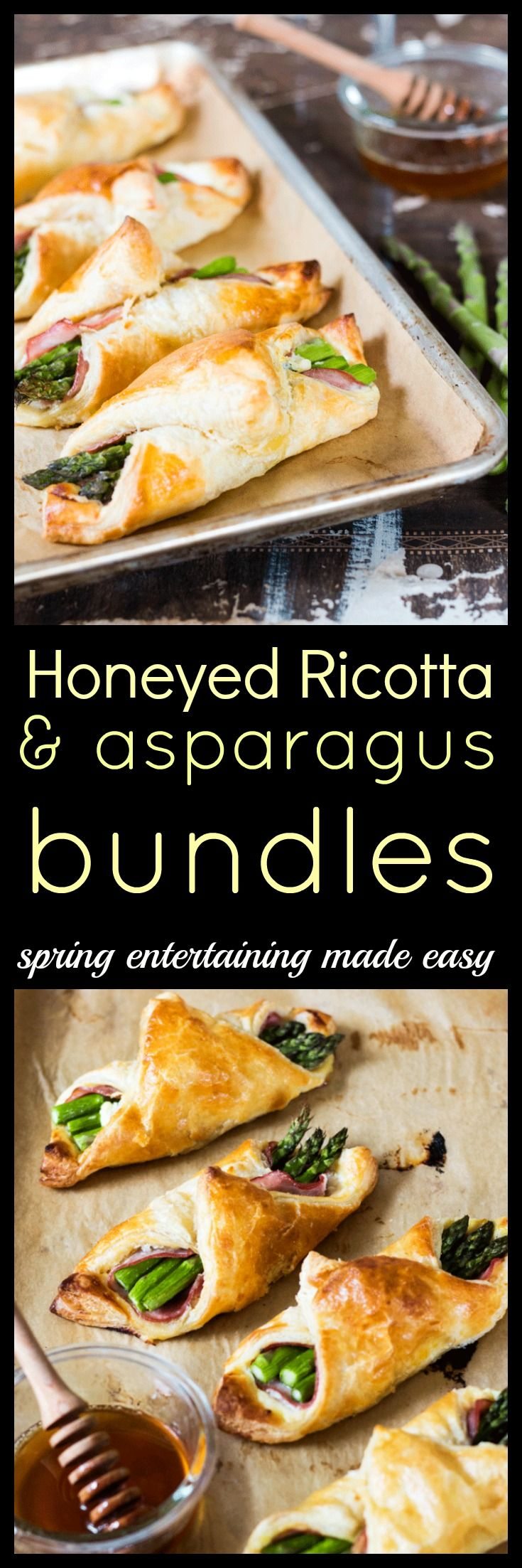 Welcome springtime and all the brunches that come with it with these light and delicious Honeyed Ricotta and Asparagus bundles. Fancy but totally fuss-free via @wholefoodbellies