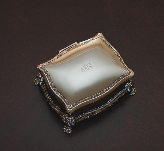 Personalized victorian jewelry box  Engraved jewelry box