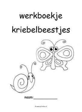 Werkboekje kriebelbeestjes 1