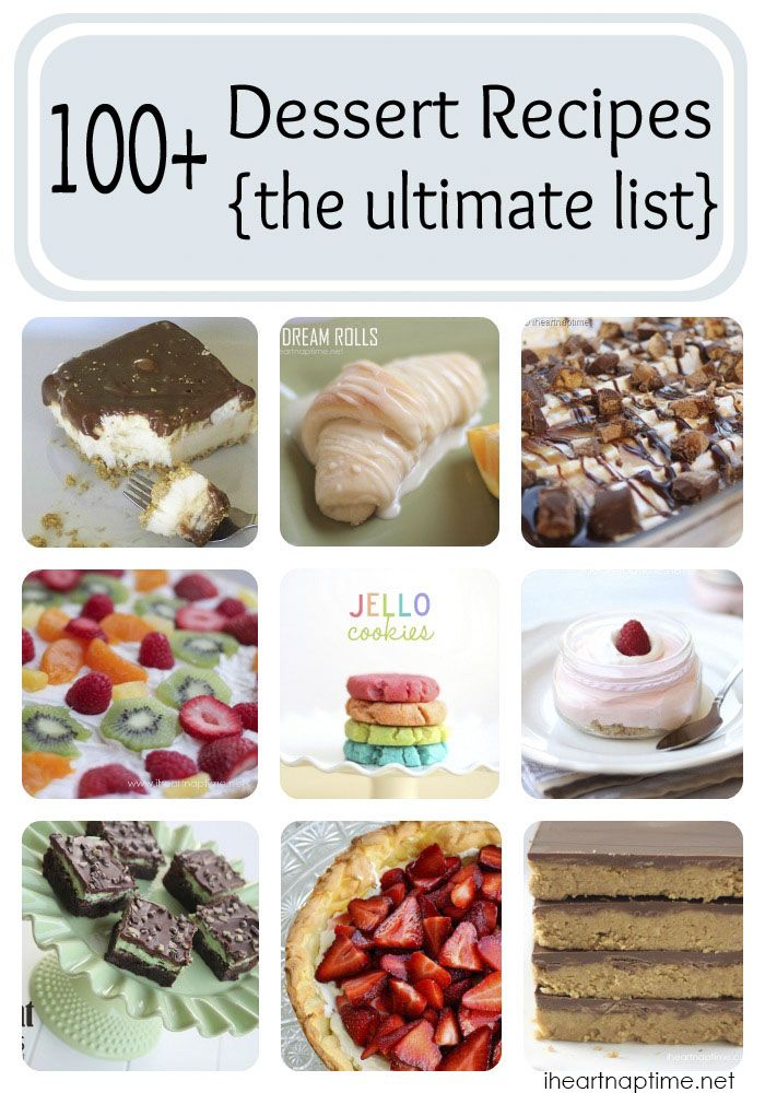 100+ dessert recipes