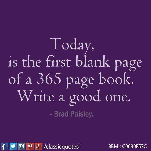 Is the first blank page of a 365 page book. write a good one