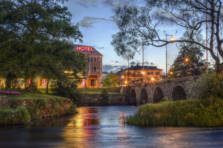 #architecture #bridge #buildings #city #city lights #clouds #dawn #downtown #dusk #evening #hotel #lake #lamp post #landscape #lights #long exposure #outdoors #park #reflection #river #sign #sunset #sweden #tourism #trav