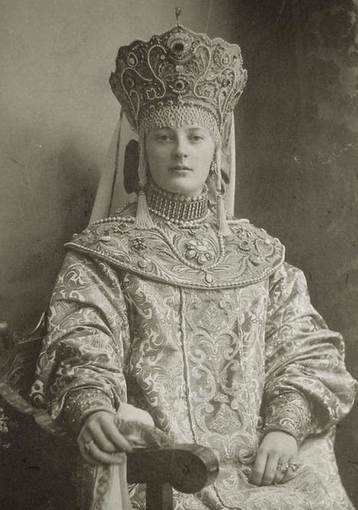 Princess Nadezdha Wonlarlarsky of Sayn Wittgenstein at the Winter ball. 1903