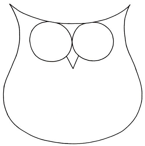 how to draw an owl in 2 easy steps