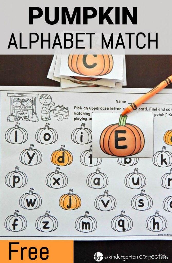 FREE Pumpkin Alphabet Match. Super adorable!!
