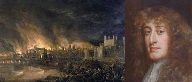 2 septembre 1666 ♦ Début de l'incendie qui calcinera la quasi totalité de Londres.