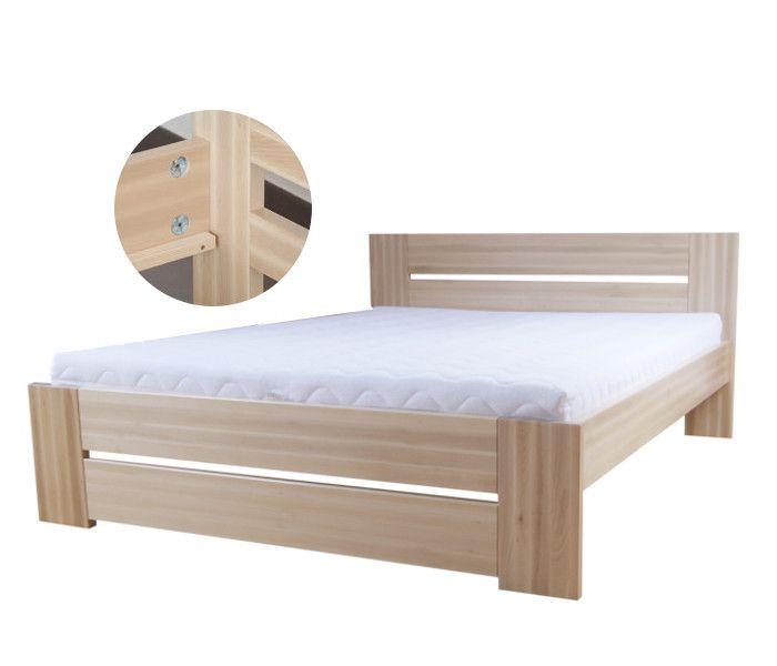 #lozko #drewno #buk #producent Łóżko drewniane bukowe 160 [87] Meble Drewniane - meble sosnowe producent