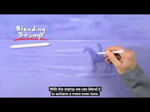 របៀបគូសត្វសេះលេីវាខ្សាច់,How to Draw a Horse on the Beach,Drawing Art Ti...