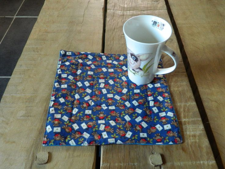 Quilted Mug Rug, Coffee coasters, Xmas gifts, Quilted table wear, Candle trivets, Quilt snack mat, handmade cup mats, drink coaster,Homemade #gifts