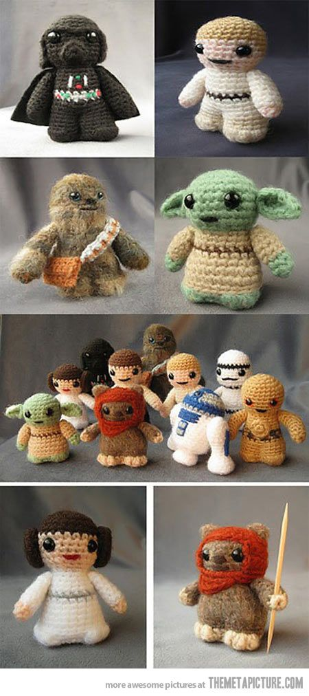 I find I have a sudden intense desire to learn how to crochet. Weird right?