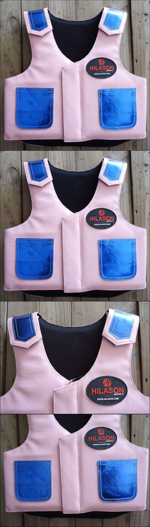 Other Protective Gear 87446: Hilason Kids Junior Youth Bull Riding Pro Rodeo Leather Protective Vest -> BUY IT NOW ONLY: $79.95 on eBay!