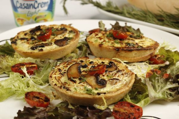 Tarta de hongos - Mushroom Quische