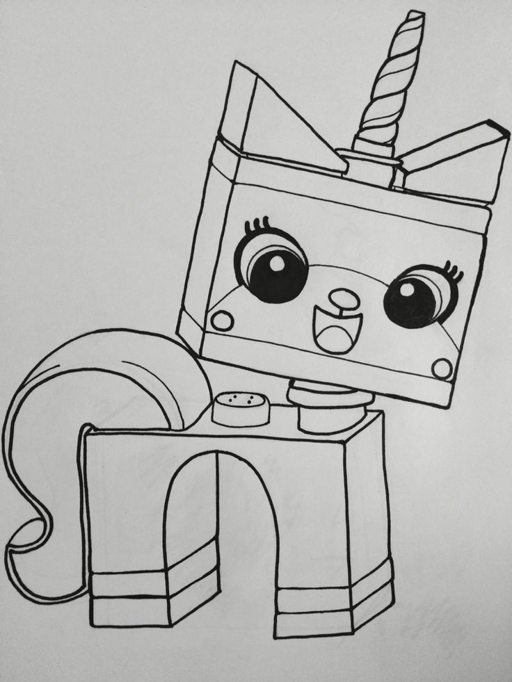 colouring page Unikitty, The Lego Movie Coloring pages