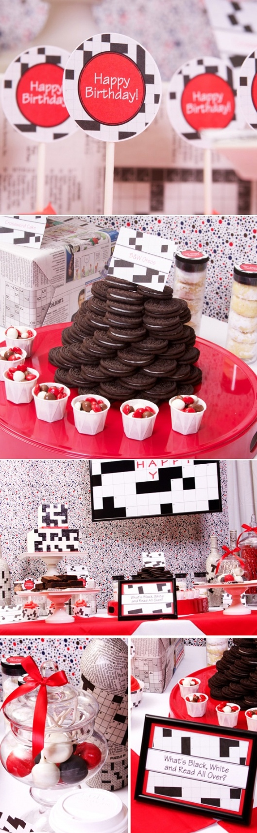 Game with shapes of different colors crossword - Crossword Birthday Party