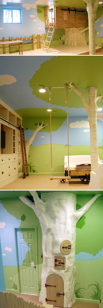 Magic Treehouse playroom! gah! i would have LOVED to have a swing inside the house! lol