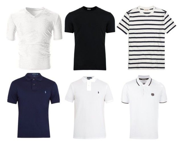 """Basis t-shirs"" by meliaa888 on Polyvore featuring Polo Ralph Lauren, Dolce&Gabbana, Kenzo, Brooks Brothers, men's fashion, menswear и basist"